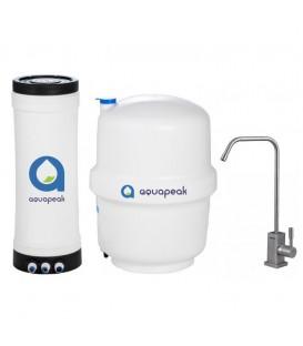 Aquapeak zuiver water filter met 6 liter voorraadvat en RVS eenweg waterkraan